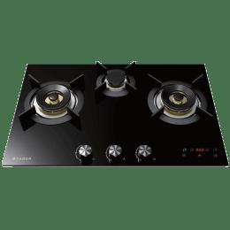 Faber 3 Burner Toughened Black Glass Built-in Gas Hob (Auto Ignition, Europa 763DT BR CIS, Black)_1