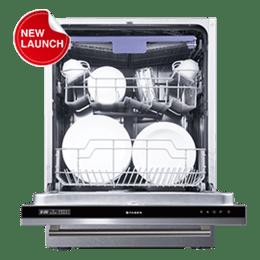 Faber 14 Place Setting Built-In Dishwasher (Foldable Racks, FBID 8PR 14S, White)_1