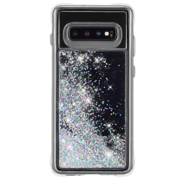 Case-Mate Waterfall Glitter Polycarbonate Back Case Cover for Samsung Galaxy S10 (CM038548, Iridescent Diamond)_1