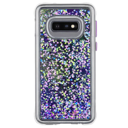 Case-Mate Waterfall Glitter Polycarbonate Back Case Cover for Samsung Galaxy S10e (CM038508, Purple Glow)_1