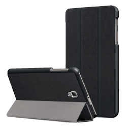 Stuffcool Flipit Leather Cover with Stand for Samsung Galaxy Tab A8 (FLPTSGTA8-BLK, Black)_1