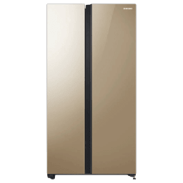 Samsung 700 Litres Frost Free Inverter Side-by-Side Door Refrigerator (All-around Cooling, RS72R50114G/TL, Gold Glass)_1