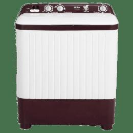 Haier 6.2 Kg Semi-Automatic Top Load Washing Machine (HTW62-187BO, Burgundy)_1