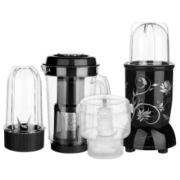 Wonderchef Nutri-Blend 400 Watts 3 Jars Juicer Mixer Grinder (Super Sharp Blades, 63152745, Black)_1