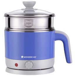 Wonderchef Luxe Multicook 1.2 Litres 1000 Watts Electric Kettle (Detachable Base, Power On and Ready Indicator, 63152932, Red)_1