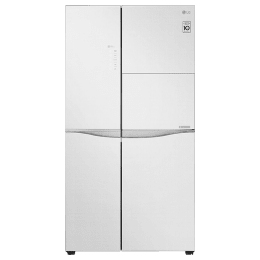 LG 675 Litres Frost Free Inverter Side-by-Side Door Refrigerator (Multi Air Flow, GC-C247UGLW.BLWQEB, Linen White)_1