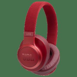 JBL Bluetooth Headphones (Live 500BT, Red)_1