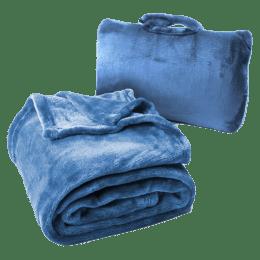 Cabeau Fold n Go Microfiber Travel Blanket (BLFG2085, Royal Blue)_1