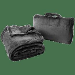 Cabeau Fold n Go Microfiber Travel Blanket (BLFG2092, Charcoal)_1