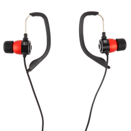 Croma Hook In-Ear Wired Earphones with Mic (Red/Black)_1