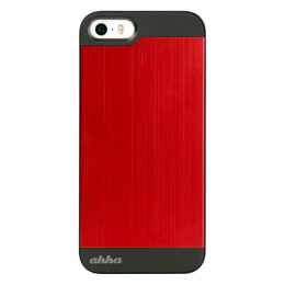Ahha Jensen Metallic Rubber Back Case Cover for Apple iPhone 5/5S (A-MCIH5-0G91, Red)_1