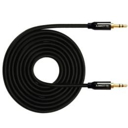 Amkette 120 cm 3.5mm Stereo Aux Cable (FDD624BK, Black)_1