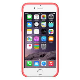 Apple iPhone 6 Silicone Back Case Cover (MGXT2ZM/A, Pink)_1