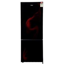 Haier 345 L 3 Star Frost Free Double Door Refrigerator (HRB-3654CSG-E, Black)_1