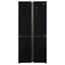 Haier 531 Litres Frost Free Inverter French Door Refrigerator (Dual Humidity Zone, HRB-550KG, Black Glass)_1