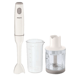 Philips Daily Collection 550 Watts Hand Blender (Includes Chopper and Beaker, HR1602/00, White)_1