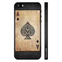 Enthopia Be The Ace Of Spades Plastic Back Case Cover for Apple iPhone 5S (ED-5300 5S, Khaki/Black)_1