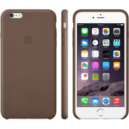 Apple iPhone 6 Plus PU Leather Back Case Cover (MGQR2ZM/A, Brown)_1