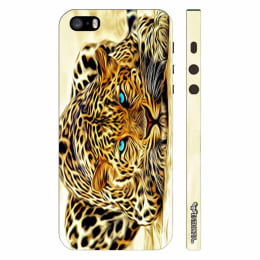 Enthopia Electric Wow Cheetah Plastic Back Case Cover for Apple iPhone 5S (ED-5450 5S, Yellow)_1