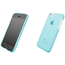 Capdase Xpose Soft Jacket Back Case Cover for Apple iPhone 5C (SJIHM-P203, Tinted Blue)_1