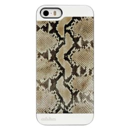 Ahha Bruno Metallic Rubber Back Case Cover for Apple iPhone 5/5S (A-MCIH5-0BN3, Snake Brown)_1