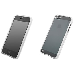 Capdase Fuze DS Soft Jacket Back Case Cover for Apple iPhone 5/5S (SJIH5-3F00, Clear/Tinted White)_1