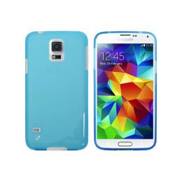 Ahha Moya Gummishell Plastic Back Case Cover for Samsung Galaxy S5 (A-GSSGS5-0M03, Blue)_1