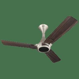 Panasonic 12XAA 120cm Sweep 3 Blade Ceiling Fan (High Speed Motor, 13986WGL, Walnut/Gold)_1