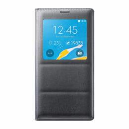 Samsung Galaxy Note 4 Leather S-view Flip Case Cover (EF-CN910FKEGIN, Black)_1