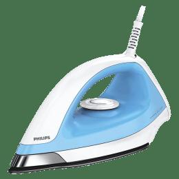 Philips 1100 Watts Dry Iron (American Heritage Black Sole, GC157/02, White/Blue)_1
