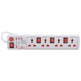 Anchor 4 Socket Surge and Spike Guard (22568, White)_1