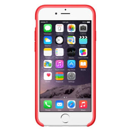 Apple iPhone 6 Silicone Back Case Cover (MGQH2ZM/A, Red)_1