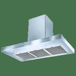 Faber Stilo Slim 3D Plus 1150m³/hr 90cm Wall Mount Chimney (Baffle Filter, T2S2 BK LTW 90, Stainless Steel)_1