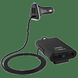 Tizum Voyager 4 Port Passenger Car Charging Adapter (TM-C150-BLK, Black)_1