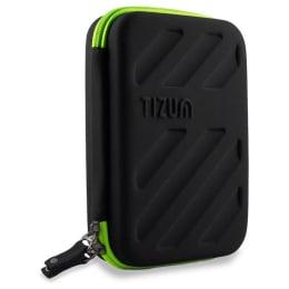 Tizum Gadget Organizer-B Nylon Travel Accessories Carry Bag (Black)_1