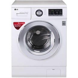 LG 7.5 kg Fully Automatic Front Loading Washing Machine (FH2G6EDNL22, White)_1