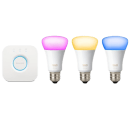 Philips Hue A60 E27 Starter Kit Electric Powered 10 Watt LED Bulb (929001206301, White)_1