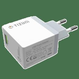 Tizum 2.4 Amp Car Charging Adapter (TM-HC-101, White)_1