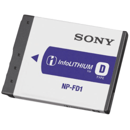 Sony Rechargeable Digicam Battery (NP-FD1, White)_1
