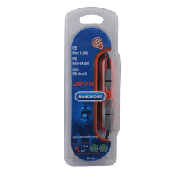 Bandridge 200 cm USB (Type-A) to Micro USB (Type-B) Cable (BCL4902, Grey/Black)_1