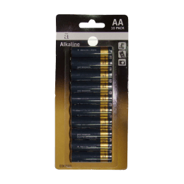 Croma AA Alkaline Battery (Black/Sliver) (Pack of 10)_1