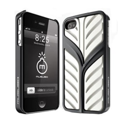 Musubo Eden Polycarbonate Back Case Cover for Apple iPhone 4/4S (White)_1