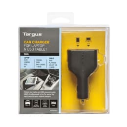 Targus Car Charging Adapter for Laptop & USB Tablet (APD046, Black)_1