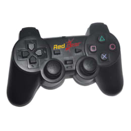 Red Gear Wired Controller for Sony PS3 (Black)_1