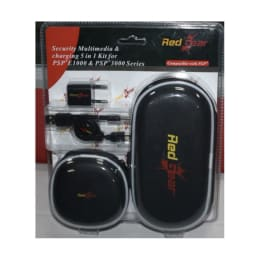 Red Gear 5 in 1 Kit for Sony PSP E 1000 and 3000 Series (Black)_1