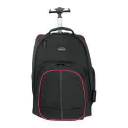 Targus Compact Rolling Backpack for Laptop (TSB75001AP-52, Black/Red)_1