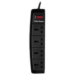 CyberPower 4 Way Surge Protector (B0415SA0-UN, Black)_1