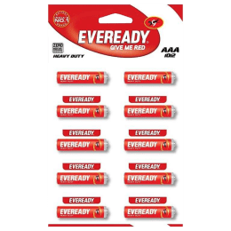 Eveready AAA Heavy Duty Carbon Zinc Battery (1012, Red) (Pack of 10)_1