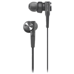 Sony In-Ear Wired Earphones with Mic (MDR-XB55AP, Black)_1