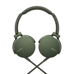 Sony MDR XB550AP On Ear Headphones with Mic (Green)_1